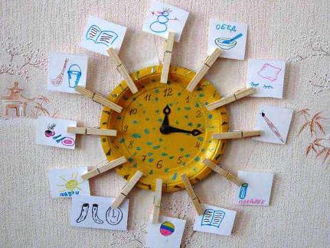 Часы для детской своими руками фото